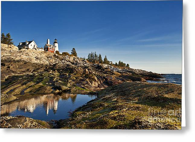 Pemaquid Point Lighthouse Greeting Card by John Greim