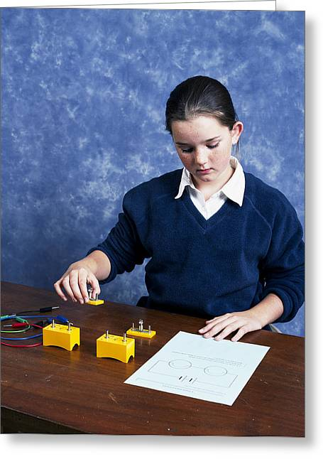 Lessons Greeting Cards - Physics Experiment Greeting Card by Andrew Lambert Photography