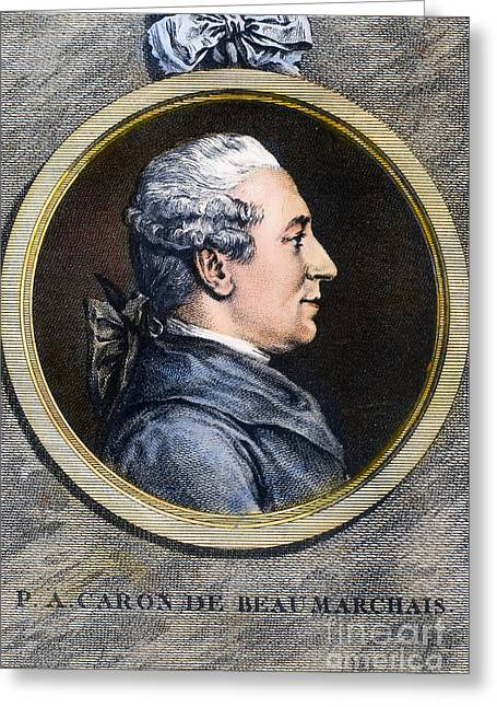 Financiers Greeting Cards - PIERRE de BEAUMARCHAIS Greeting Card by Granger