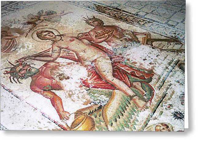 Regia Greeting Cards - Roman Mosaic Greeting Card by Sheila Terry