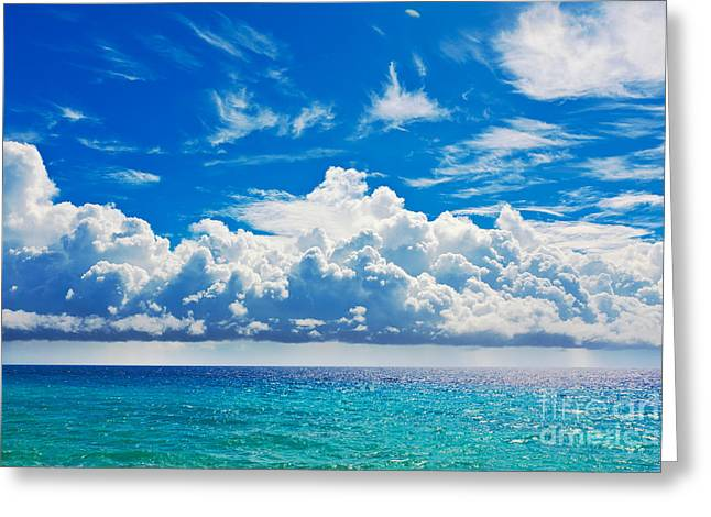 Peaceful Scene Greeting Cards - Sea Greeting Card by MotHaiBaPhoto Prints