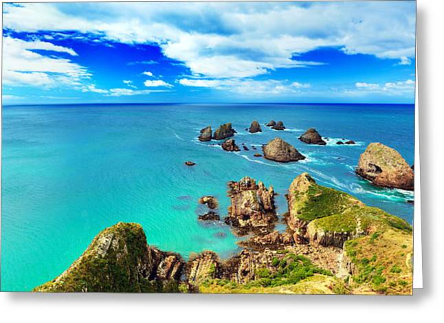 Boundless Greeting Cards - Seascape Greeting Card by MotHaiBaPhoto Prints
