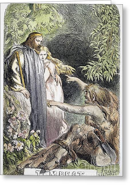 Titlepage Greeting Cards - Shakespeare: Tempest Greeting Card by Granger