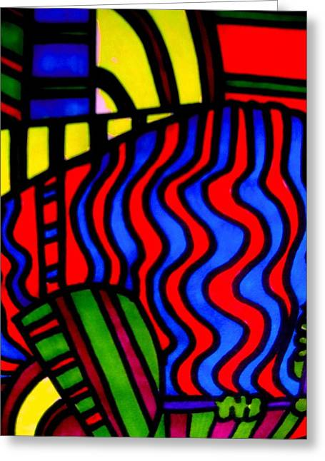 She Comes In Colors Greeting Card by Allen n Lehman