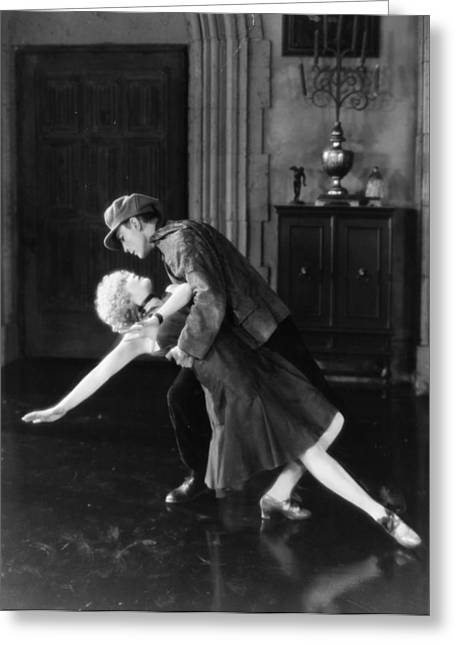Ecentertainment Greeting Cards - Silent Film Still: Dancing Greeting Card by Granger