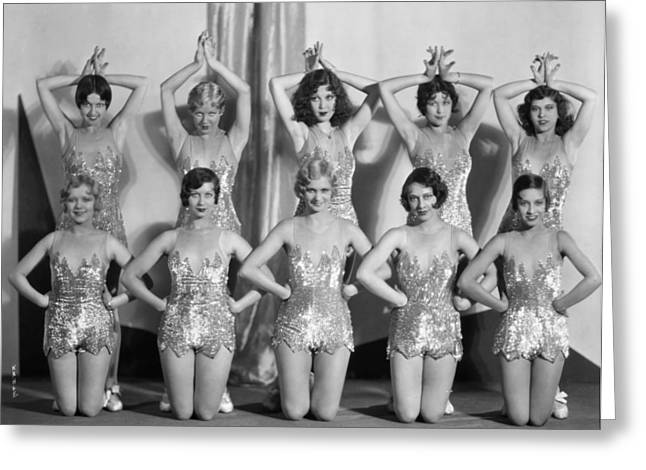 Showgirls Greeting Cards - Silent Still: Showgirls Greeting Card by Granger
