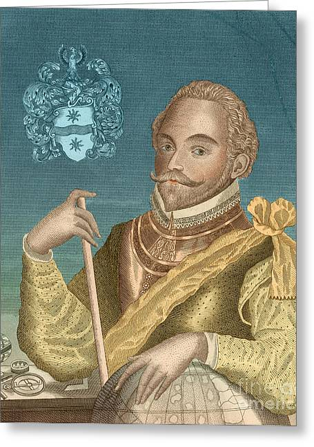 1596 Greeting Cards - Sir Francis Drake, English Explorer Greeting Card by Photo Researchers