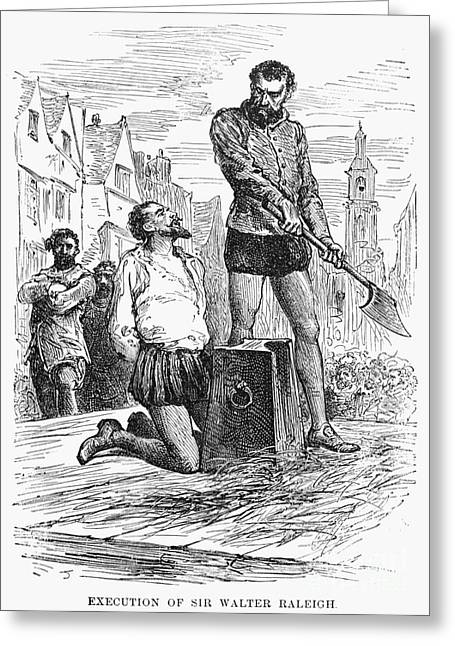 Treason Greeting Cards - Sir Walter Raleigh Greeting Card by Granger