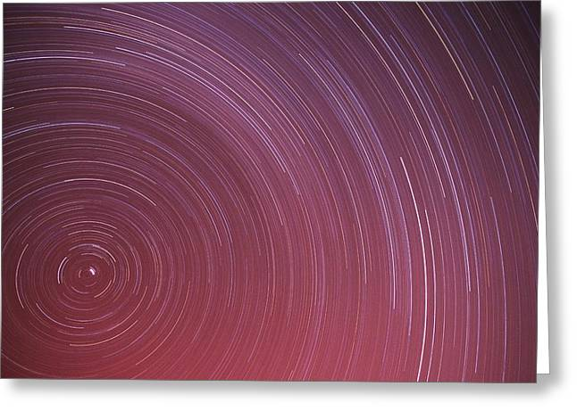 Northern Pole Star Greeting Cards - Star Trails Greeting Card by Kaj R. Svensson