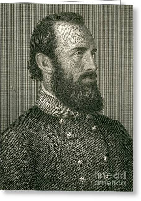 Stonewall Greeting Cards - Stonewall Jackson, Confederate General Greeting Card by Photo Researchers