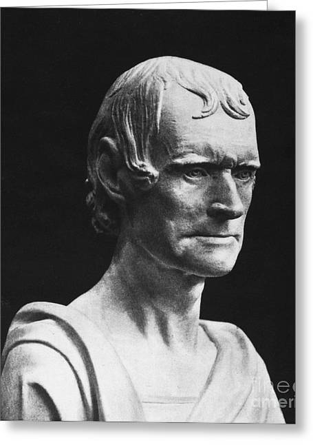 Statue Portrait Photographs Greeting Cards - Thomas Jefferson Greeting Card by Granger