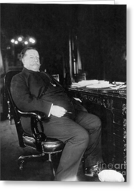 The White House Photographs Greeting Cards - William Howard Taft Greeting Card by Granger