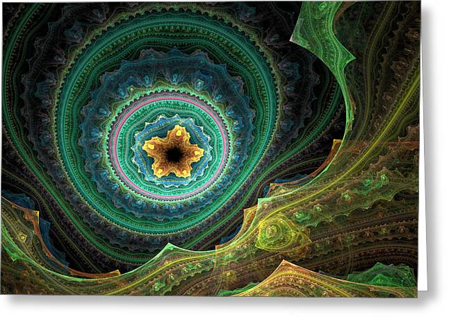 Generative Abstract Greeting Cards - 803 Greeting Card by Lar Matre