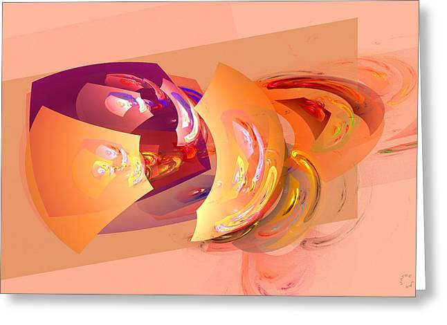 Generative Abstract Greeting Cards - 815 Greeting Card by Lar Matre