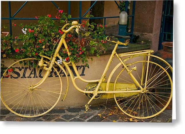 Bicycling Tuscany Greeting Cards - 818 Greeting Card by John Galbo