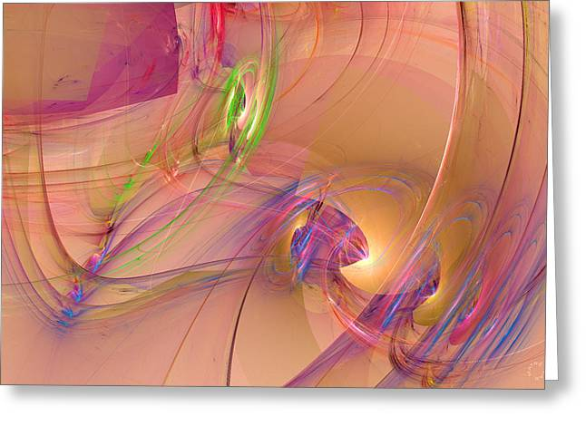 Generative Abstract Greeting Cards - 829 Greeting Card by Lar Matre