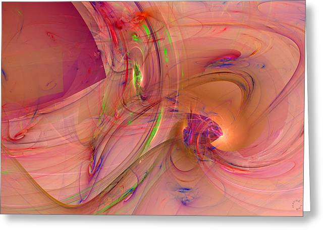 Generative Abstract Greeting Cards - 830 Greeting Card by Lar Matre