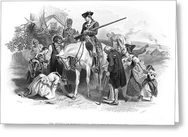 1750s Greeting Cards - George Washington Greeting Card by Granger