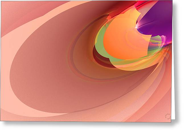 Generative Abstract Greeting Cards - 841 Greeting Card by Lar Matre