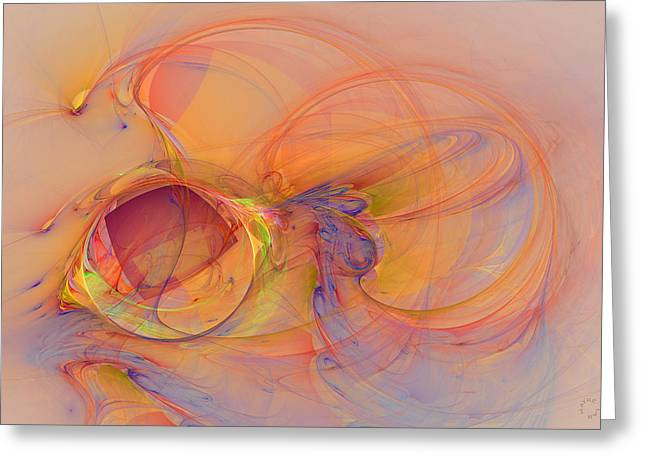 Generative Art Greeting Cards - 848 Greeting Card by Lar Matre