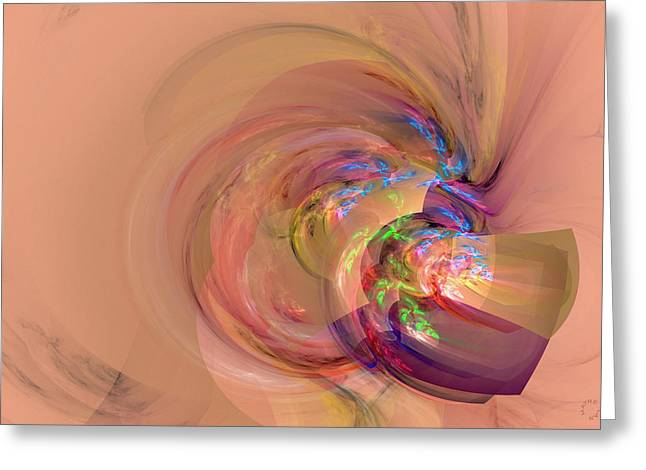 Generative Abstract Greeting Cards - 849 Greeting Card by Lar Matre