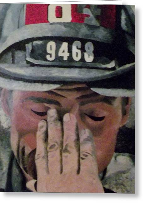 Terrorist Paintings Greeting Cards - 84.9468 Greeting Card by T Fischler