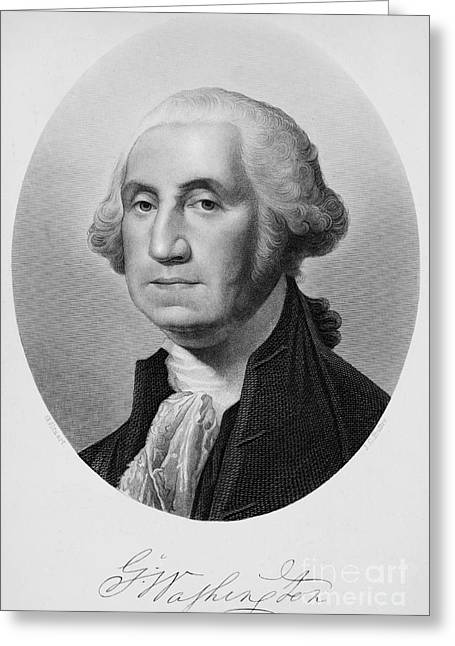 Autograph Greeting Cards - George Washington Greeting Card by Granger