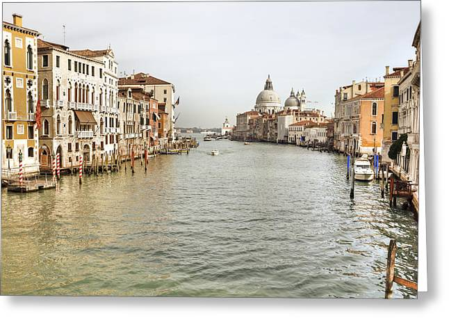 Santa Maria Della Salute Greeting Cards - Venezia Greeting Card by Joana Kruse