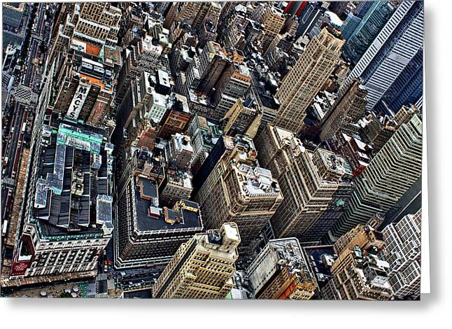 Maico Presente Greeting Cards - 86th Floor Greeting Card by Maico Presente