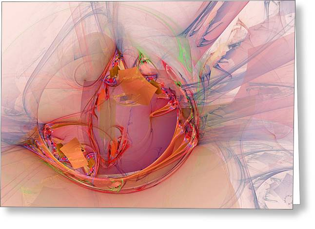 Generative Abstract Greeting Cards - 873 Greeting Card by Lar Matre