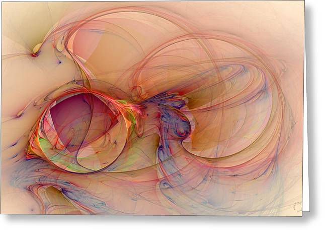 Generative Abstract Greeting Cards - 879 Greeting Card by Lar Matre