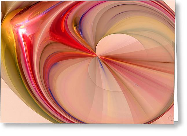 Generative Abstract Greeting Cards - 885 Greeting Card by Lar Matre