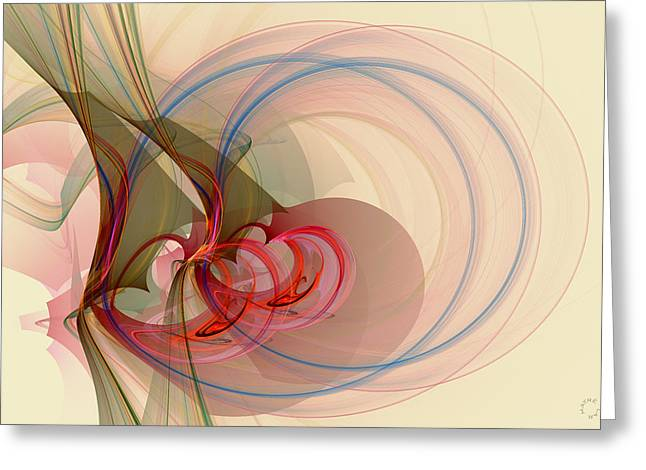 Generative Abstract Greeting Cards - 898 Greeting Card by Lar Matre