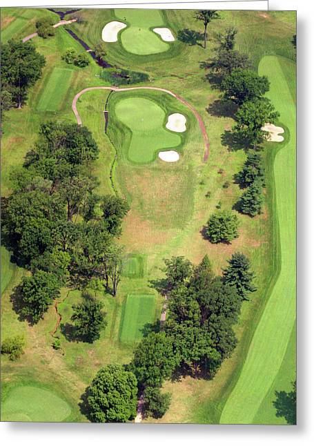 Plymouth Meeting Aerials Greeting Cards - 8th Hole Sunnybrook Golf Club 398 Stenton Avenue Plymouth Meeting PA 19462 1243 Greeting Card by Duncan Pearson