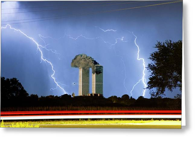 Images Lightning Greeting Cards - 9-11   Greeting Card by James BO  Insogna