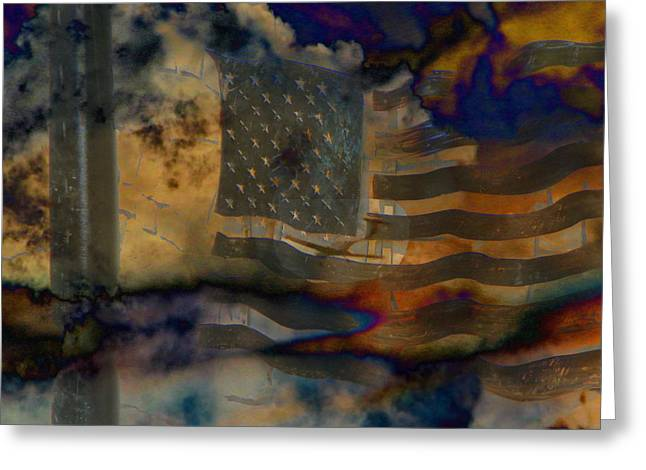 Terrorism Greeting Cards - 9-11 In Memory  Greeting Card by Lenore Senior