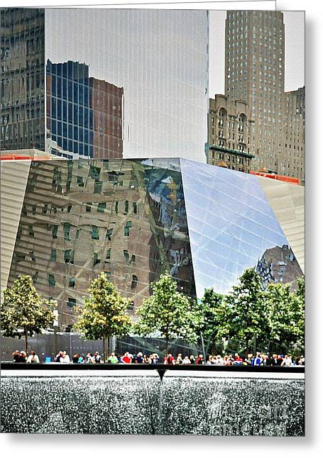 Terrorist Greeting Cards - 9/11 Memorial Greeting Card by Gwyn Newcombe