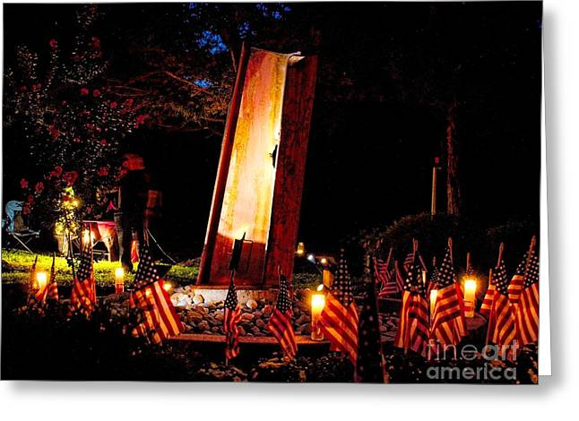 Wtc 11 Greeting Cards - 9/11 Remembrance Mantua NJ Greeting Card by Nick Zelinsky