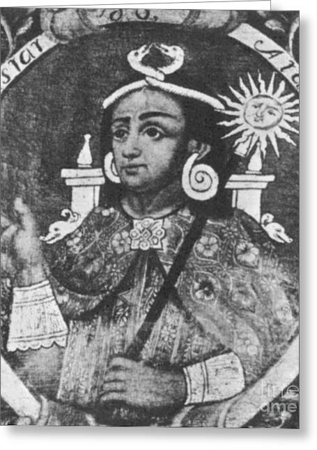 Strangling Greeting Cards - Atahualpa, Last Emperor Of The Incan Greeting Card by Science Source