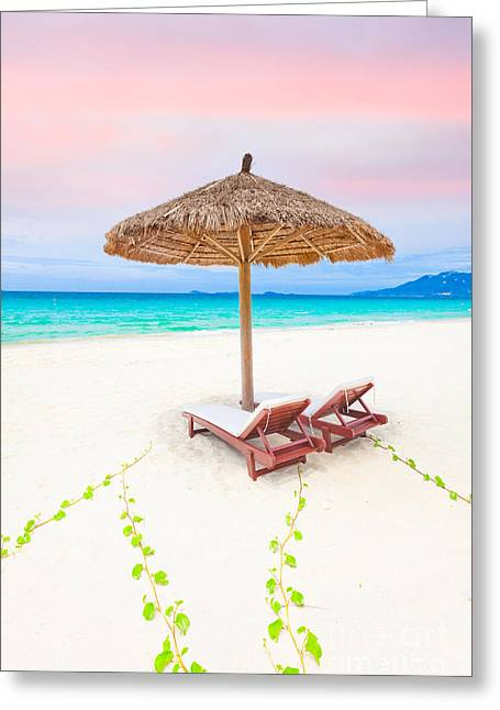 Daybed Greeting Cards - Beach Greeting Card by MotHaiBaPhoto Prints