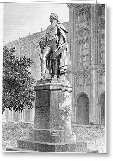 Statue Portrait Photographs Greeting Cards - Benjamin Thompson Greeting Card by Granger
