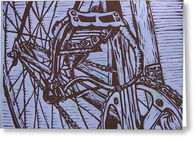 Bike 3 Greeting Card by William Cauthern