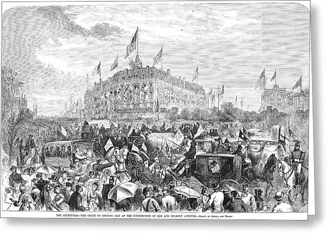 Centennial Fair, 1876 Greeting Card by Granger