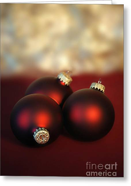 Holiday Decoration Greeting Cards - Christmas Ornaments Greeting Card by HD Connelly