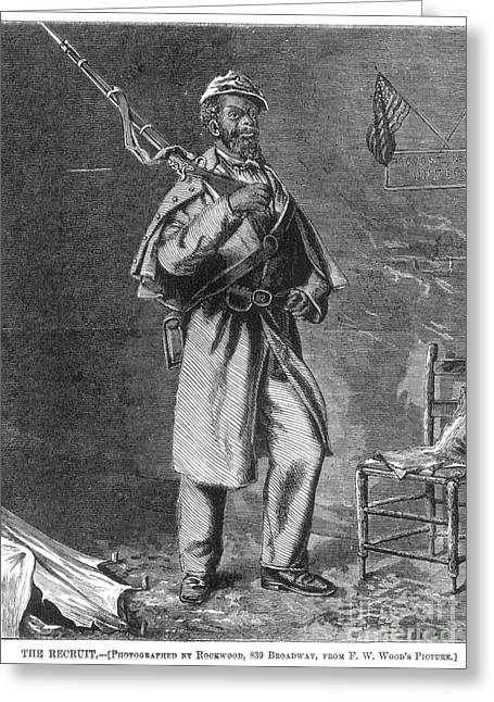 Bayonet Greeting Cards - Civil War: Black Troops Greeting Card by Granger