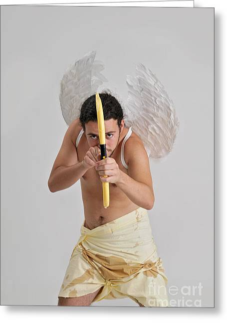 One Young Man Only Greeting Cards - Cupid the god of desire Greeting Card by Ilan Rosen