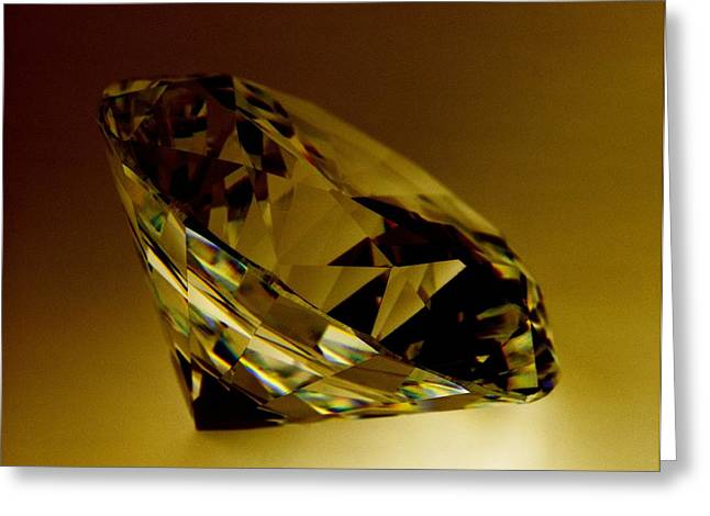 Valuable Photographs Greeting Cards - Diamond Greeting Card by Lawrence Lawry