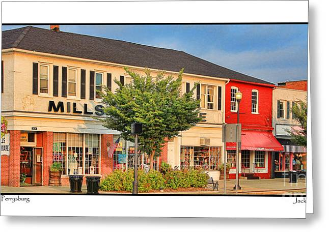 Hardware Shop Greeting Cards - Downtown Perrysburg Greeting Card by Jack Schultz