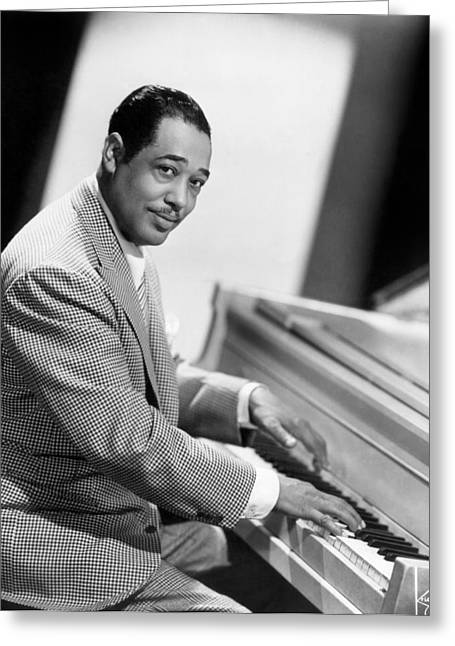 Piano Greeting Cards - Duke Ellington (1899-1974) Greeting Card by Granger