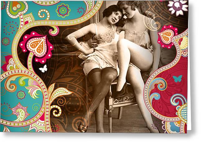 Ziegfeld Follies Greeting Cards - Goddesses Greeting Card by Chris Andruskiewicz